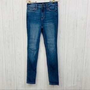 HOLLISTER HIGH RISE SUPER SKINNY BLUE JEANS 5R